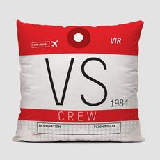VS Crew Tag Virgin Atlantic Pillow Cover