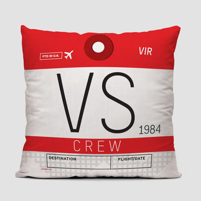 VS Crew Tag Virgin Atlantic Pillow Cover