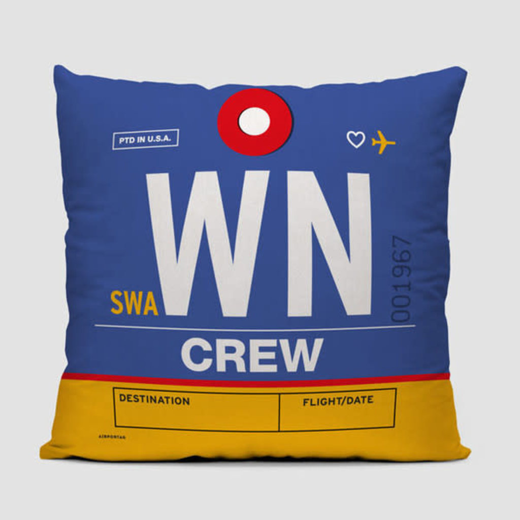WN Crew Tag Southwest Pillow Cover