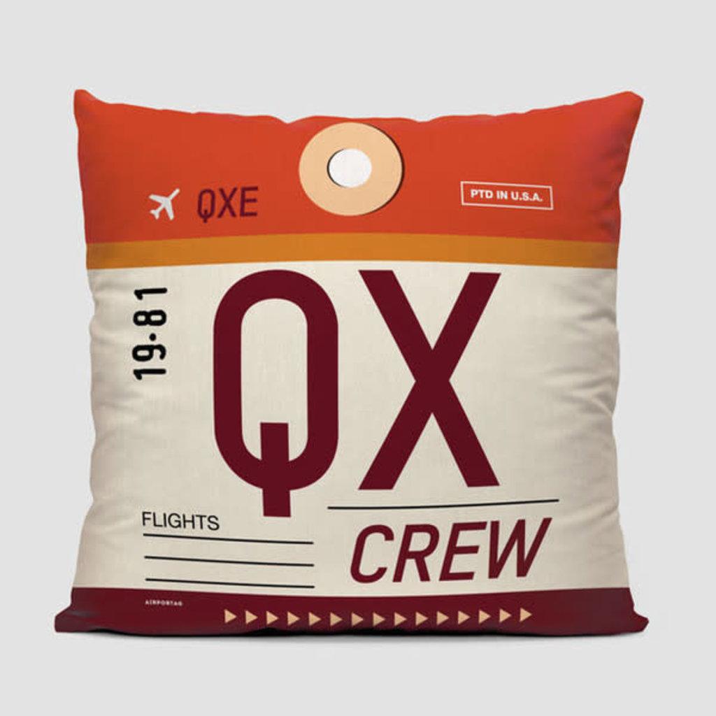 QX Crew Tag Horizon  Pillow Cover