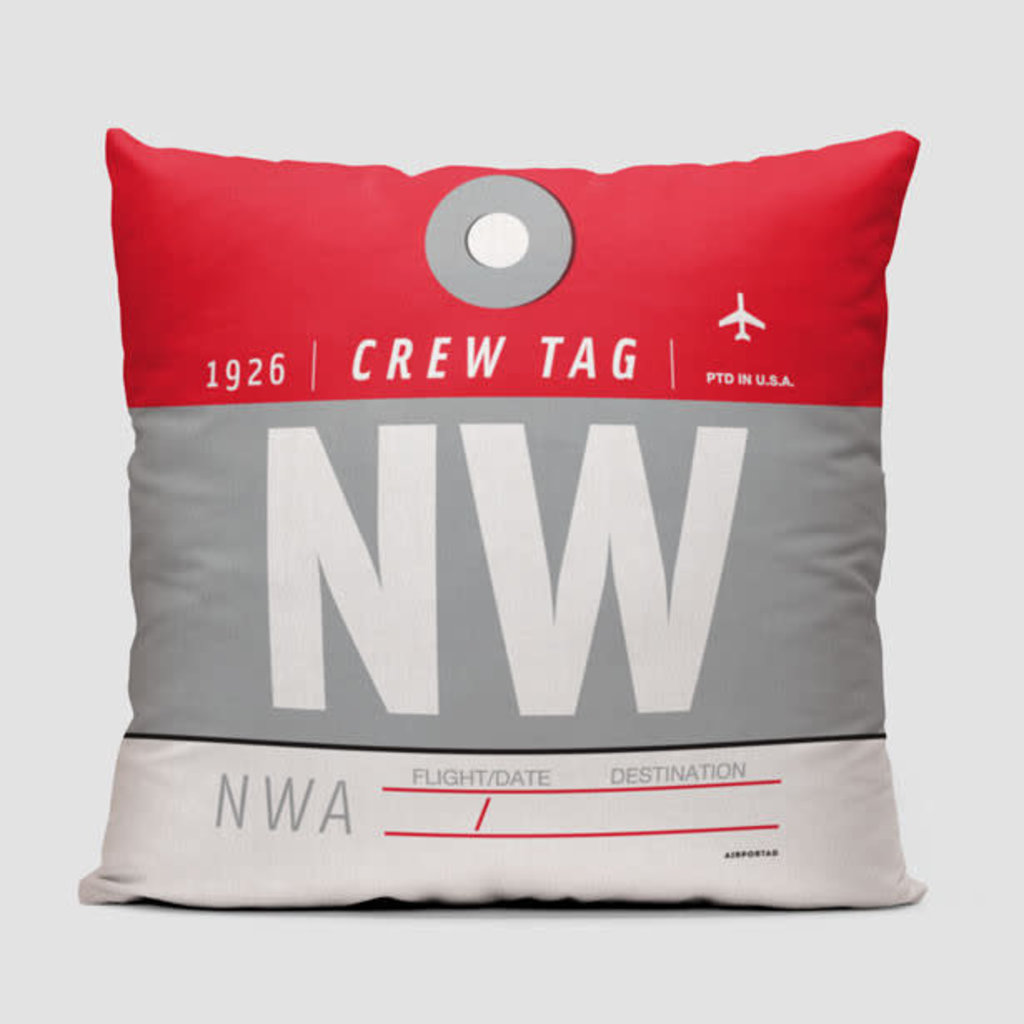 NW Crew Tag Northwest Pillow Cover