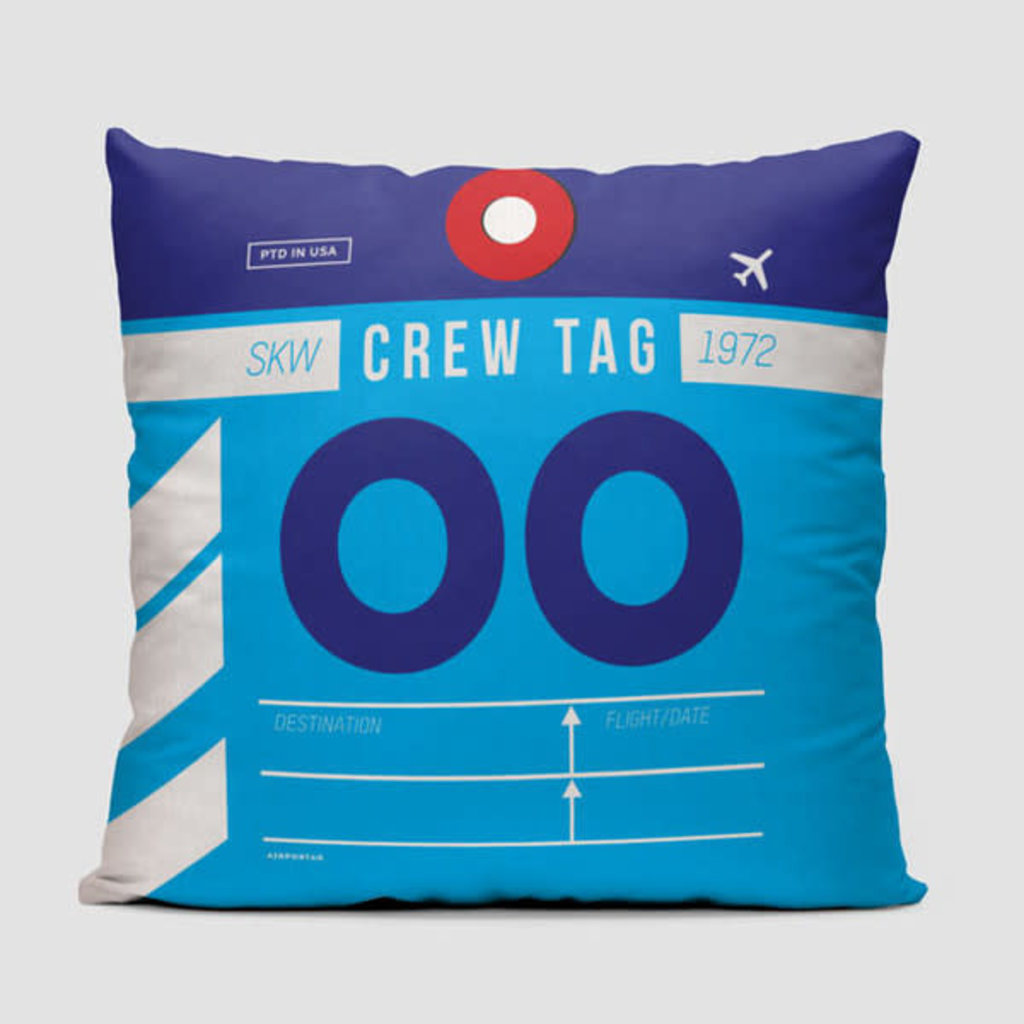 OO Crew Tag SkyWest Pillow Cover
