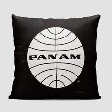 Pan Am Logo Black Pillow Cover