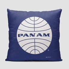 Pan Am Logo Dark Blue Pillow Cover