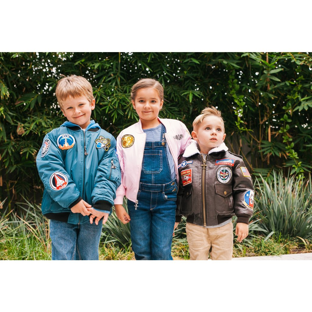 Kid's MA-1 Flight Jacket Sage Green