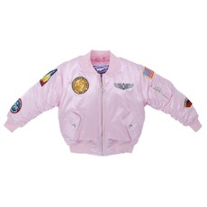 Kid's MA-1 Flight Jacket Pink