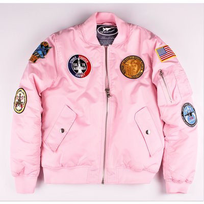 Women's MA-1 Flight Jacket Pink