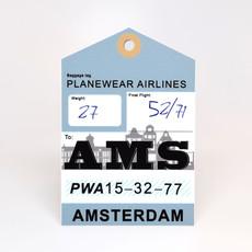 AMS Baggage Tag Die-Cut Sticker