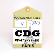 CDG Baggage Tag Die-Cut Sticker