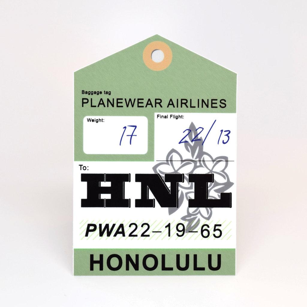 HNL Baggage Tag Die-Cut Sticker