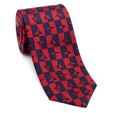 Aviation & Planes Red and Blue Necktie