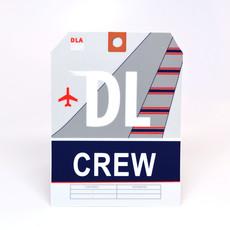 DL CREW Baggage Tag Die-Cut Sticker