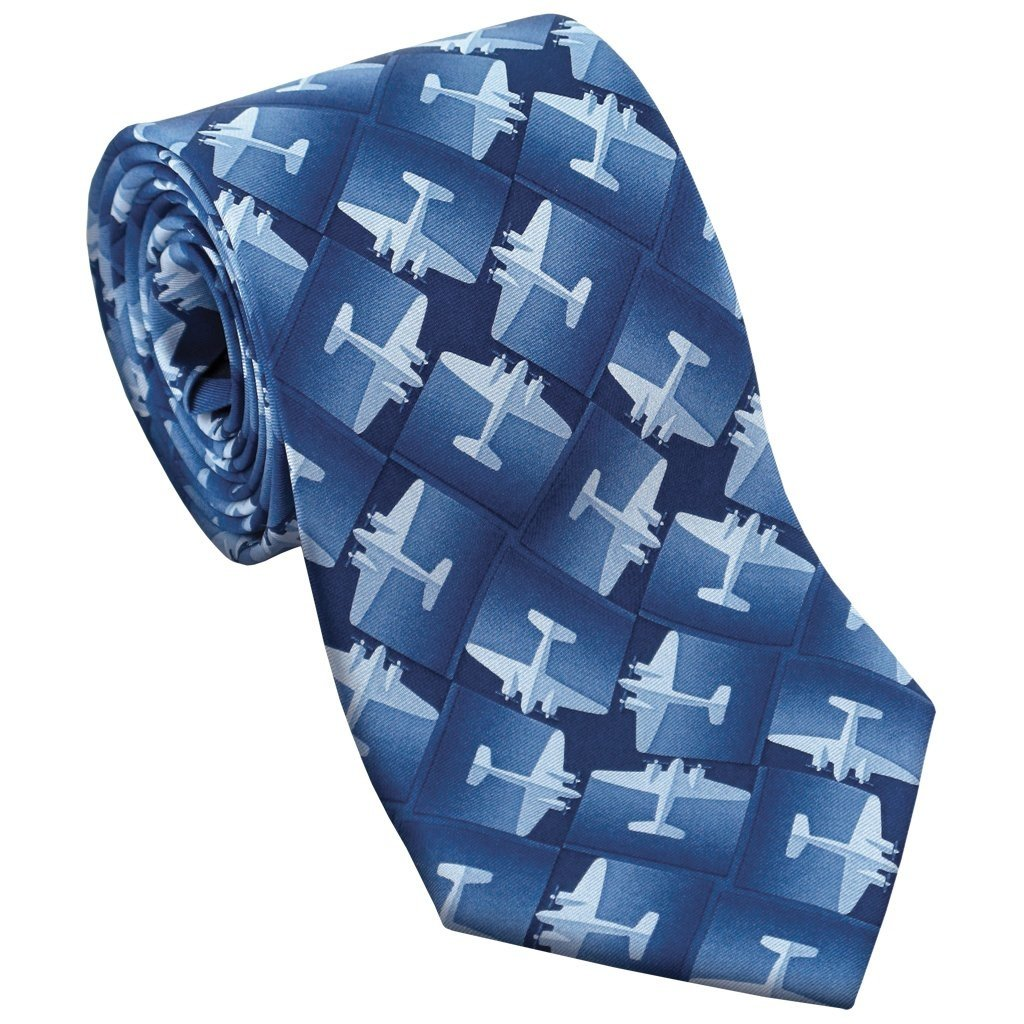 DC-3 Planes Blue Necktie
