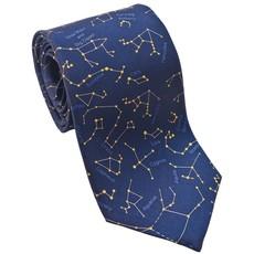 Constellations Dark Blue and Yellow Necktie