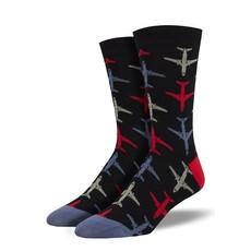 Men's Bamboo Airplane Socks