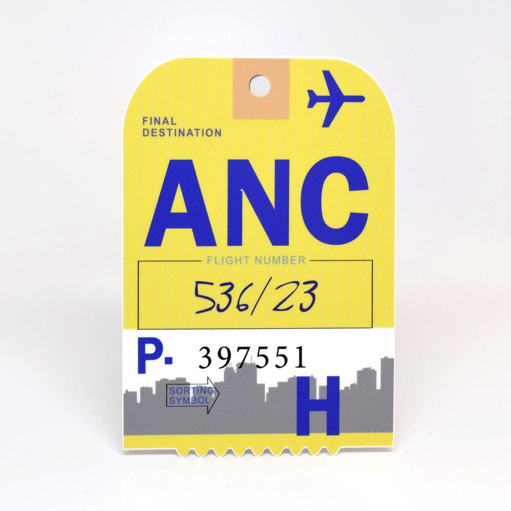 ANC Baggage Tag Die-Cut Sticker