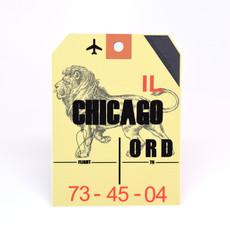 ORD Baggage Tag Die-Cut Sticker