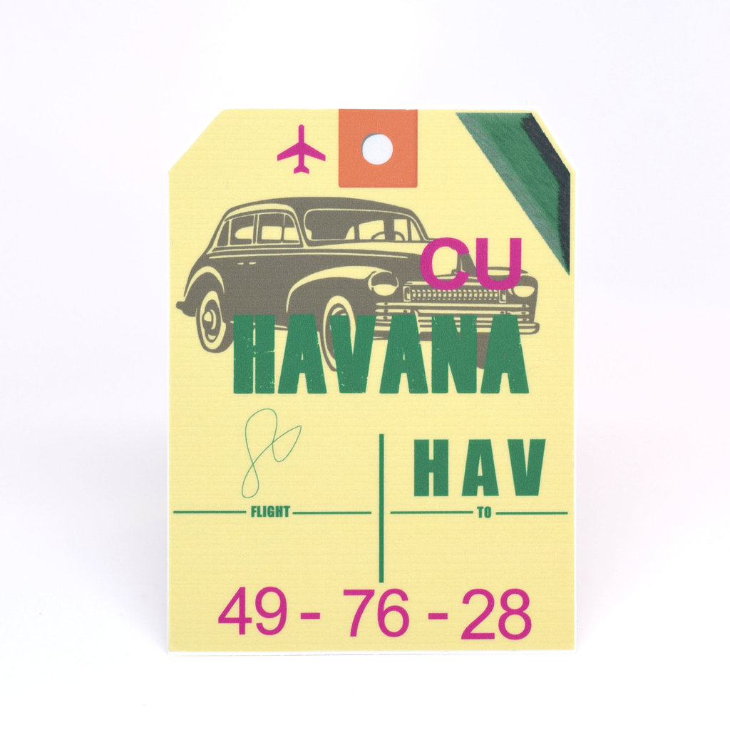 HAV Baggage Tag Die-Cut Sticker