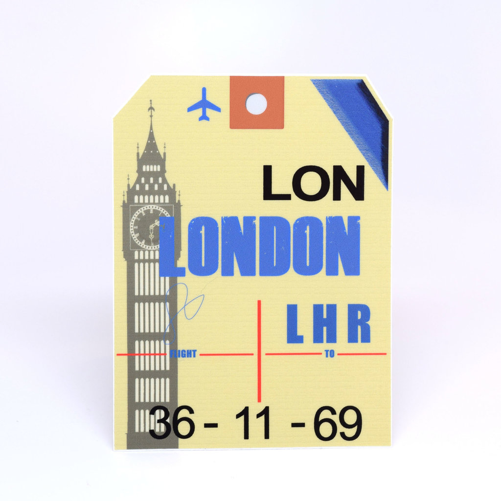LHR Baggage Tag Die-Cut Sticker