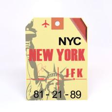 JFK Baggage Tag Die-Cut Sticker
