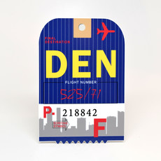 DEN Baggage Tag Die-Cut Sticker