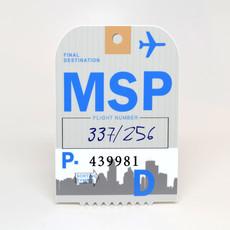 MSP Baggage Tag Die-Cut Sticker