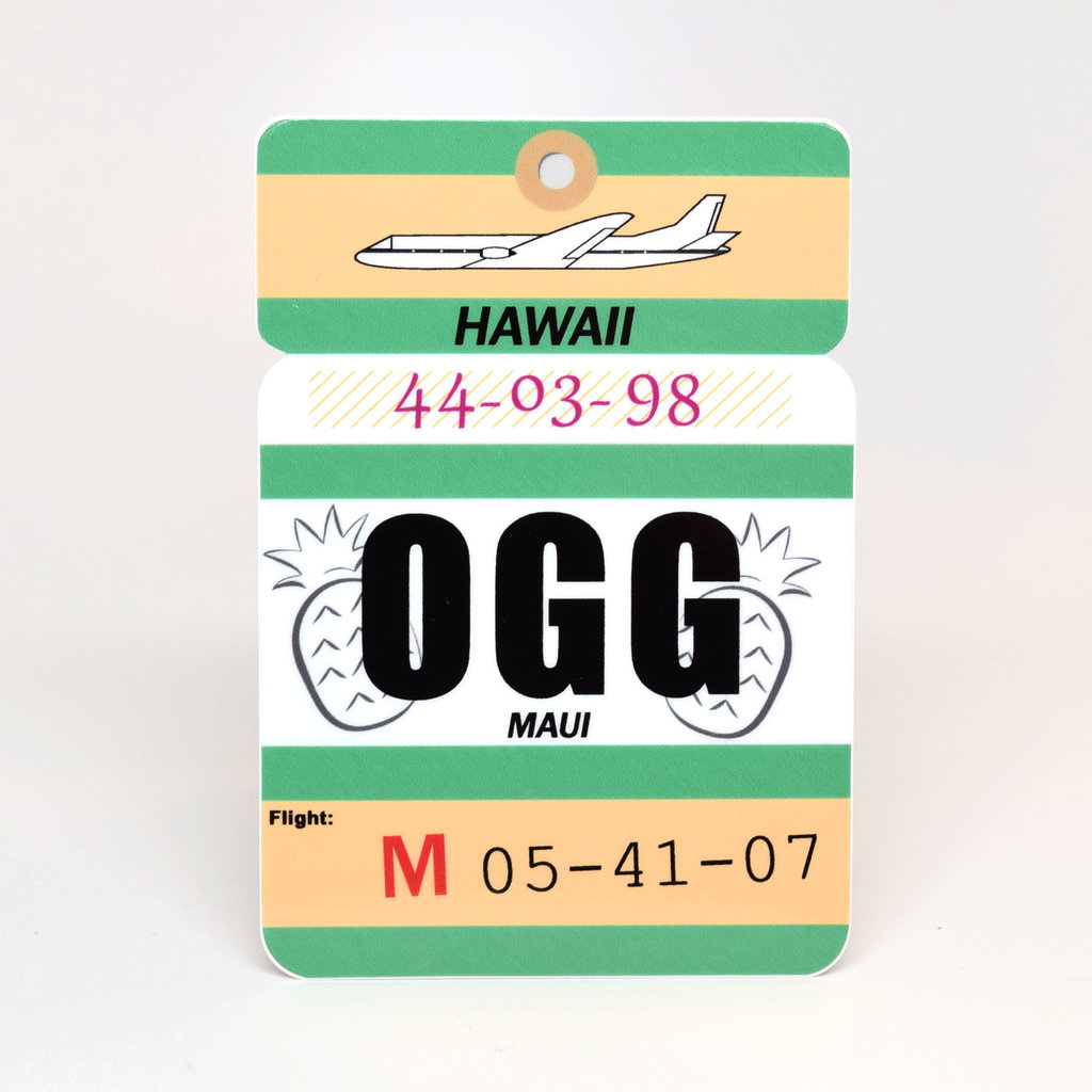 OGG Baggage Tag Die-Cut Sticker