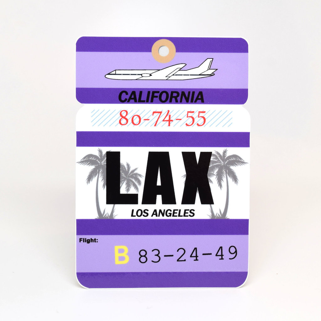 LAX Baggage Tag Die-Cut Sticker
