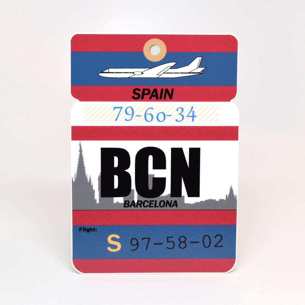 BCN Baggage Tag Die-Cut Sticker