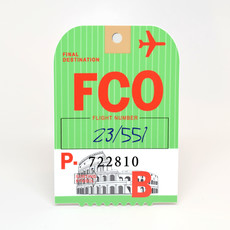 FCO Baggage Tag Die-Cut Sticker