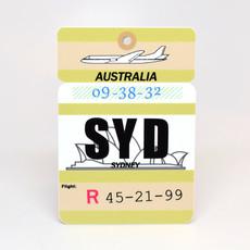 SYD Baggage Tag Die-Cut Sticker
