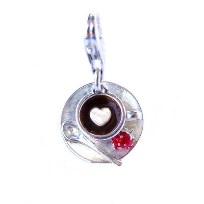 First Class Latte Cup Charm
