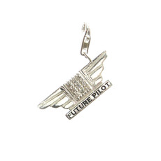 First Class Silver Wings Charm