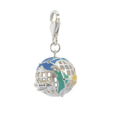First Class World Globe Charm