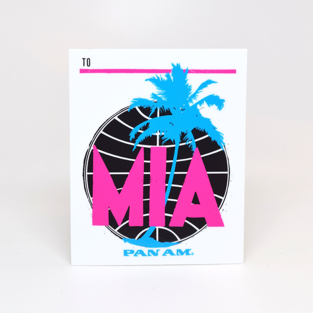Pan Am Travel Sticker-Miami