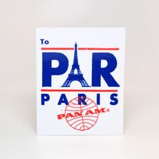Pan Am Travel Sticker-Paris