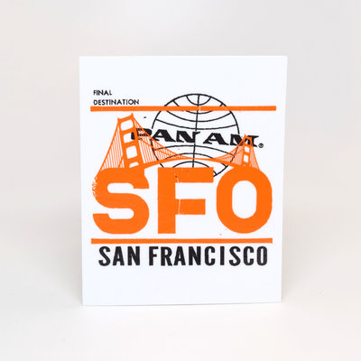 Pan Am San Francisco Sticker