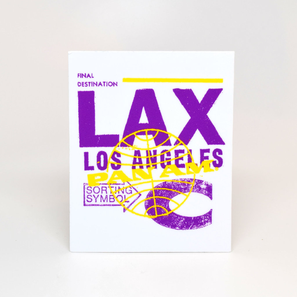 Pan Am Travel Sticker-Los Angeles