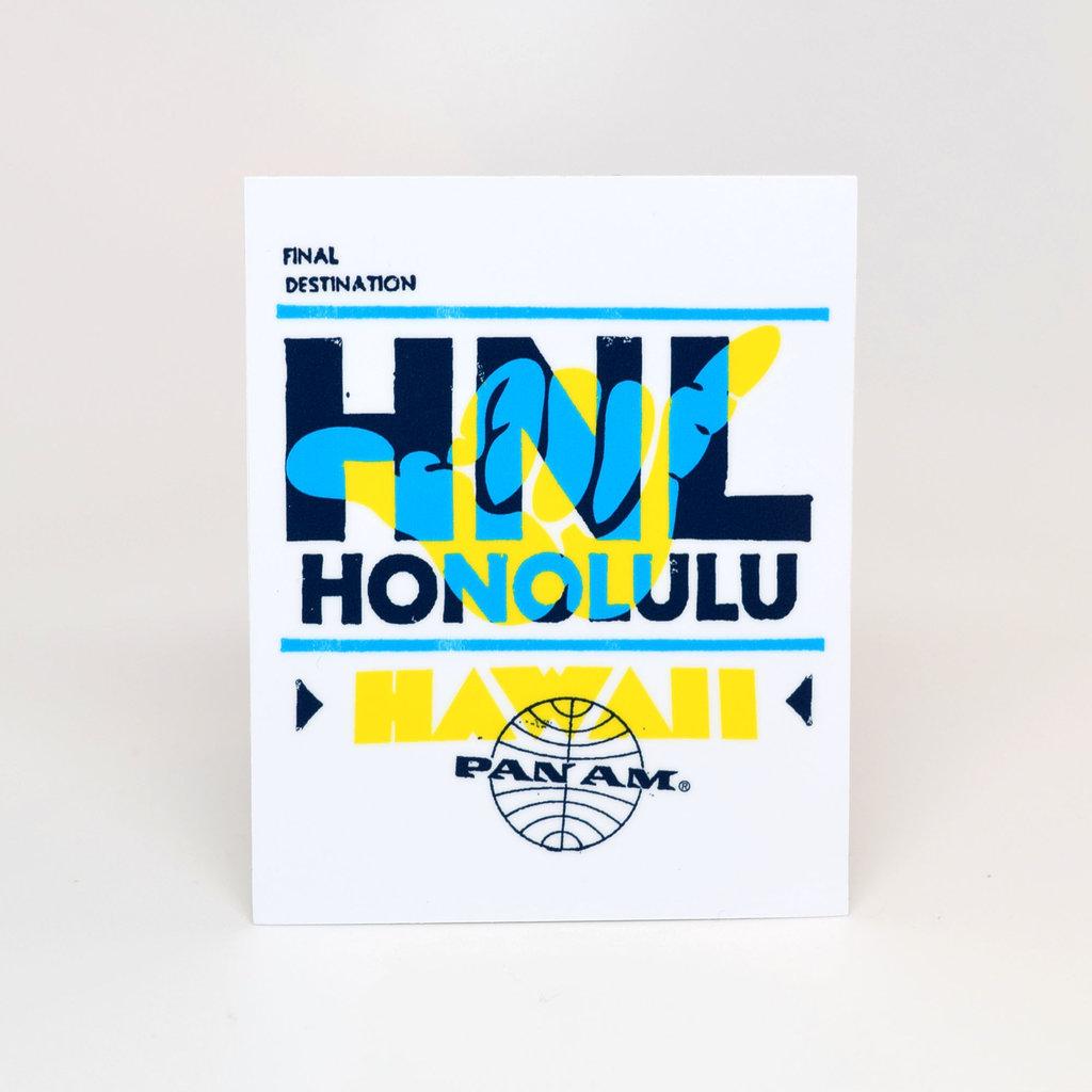 Pan Am Travel Sticker-Honolulu