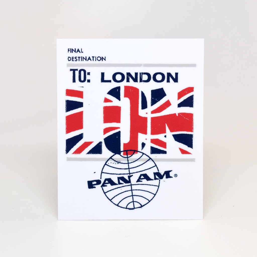 Pan Am Travel Sticker-London