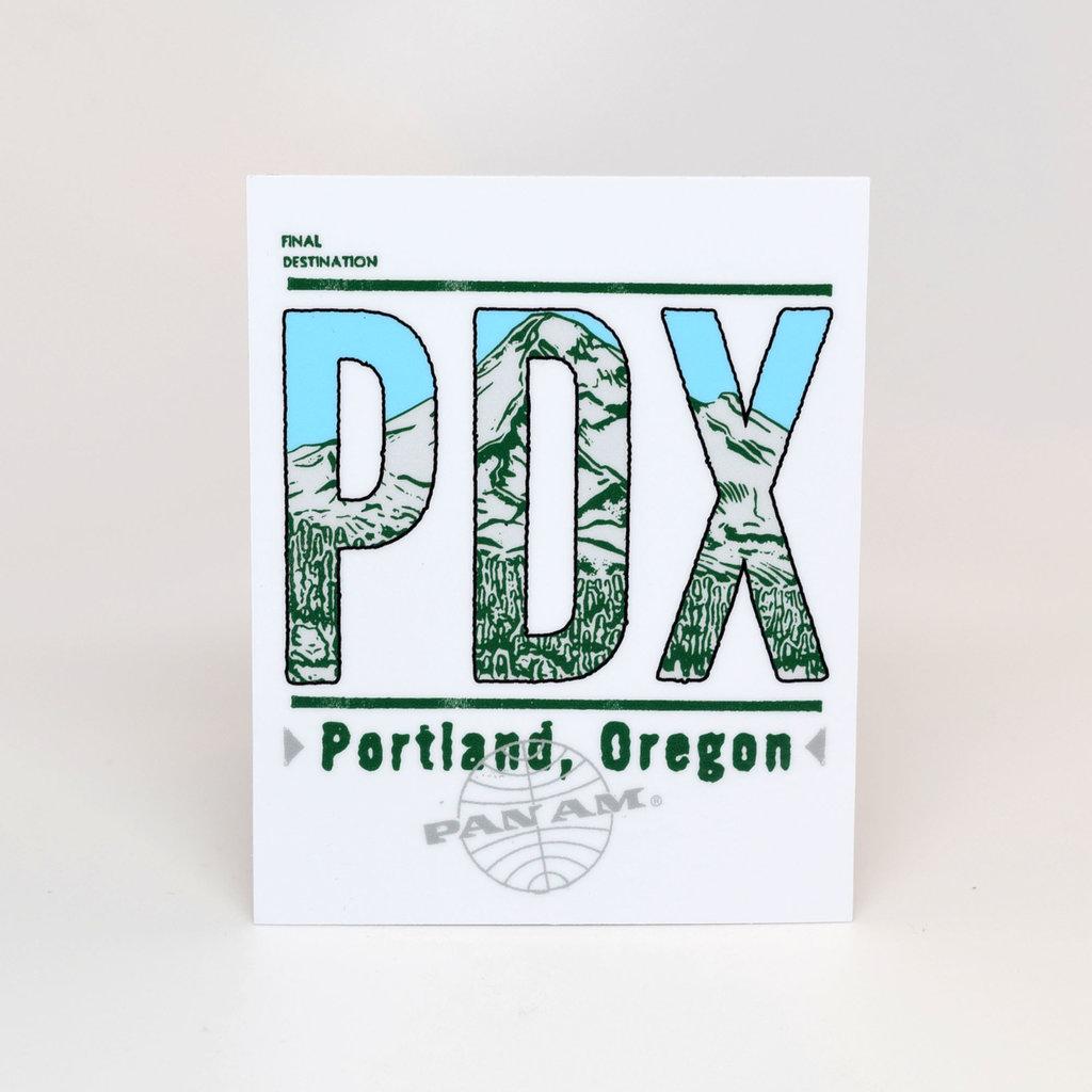 Pan Am Travel Sticker-Portland