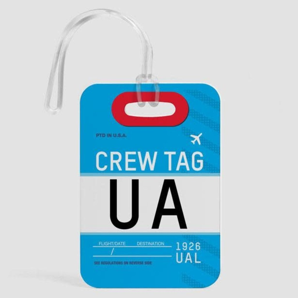 UA Crew Luggage Tag