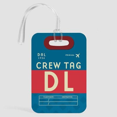 DL Crew Luggage Tag