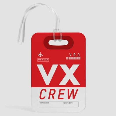 VX Crew Luggage Tag