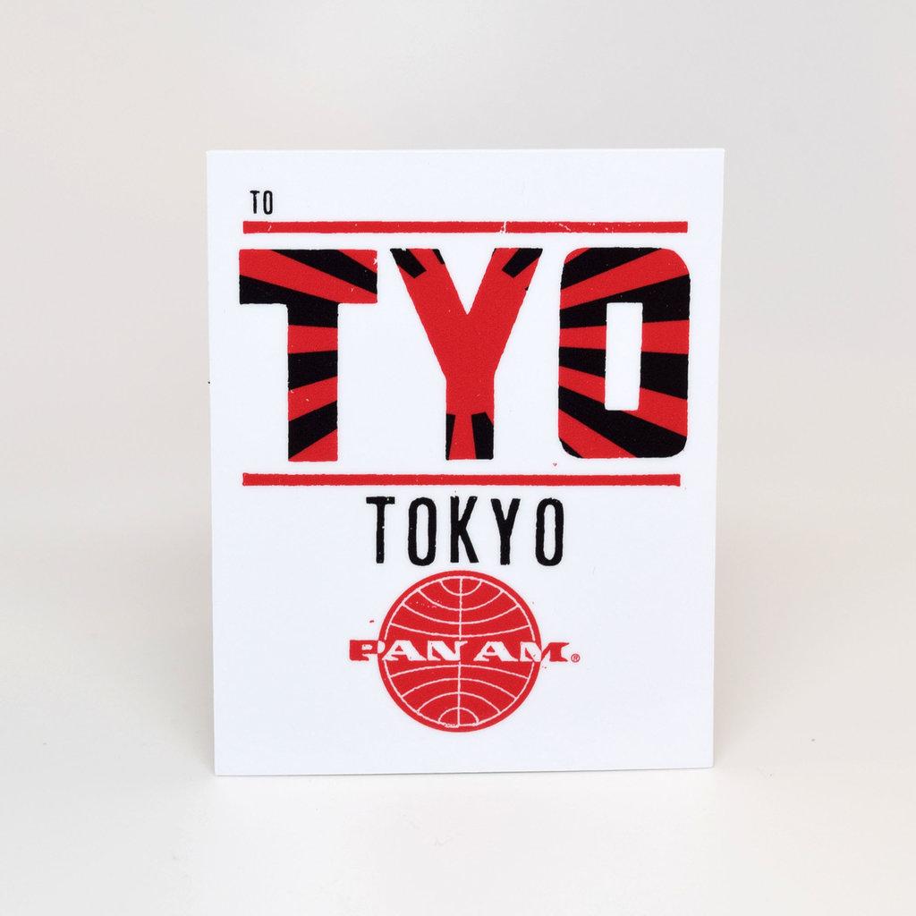 Pan Am Travel Sticker-Tokyo