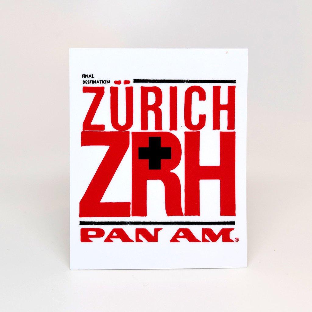 Pan Am Travel Sticker-Zurich