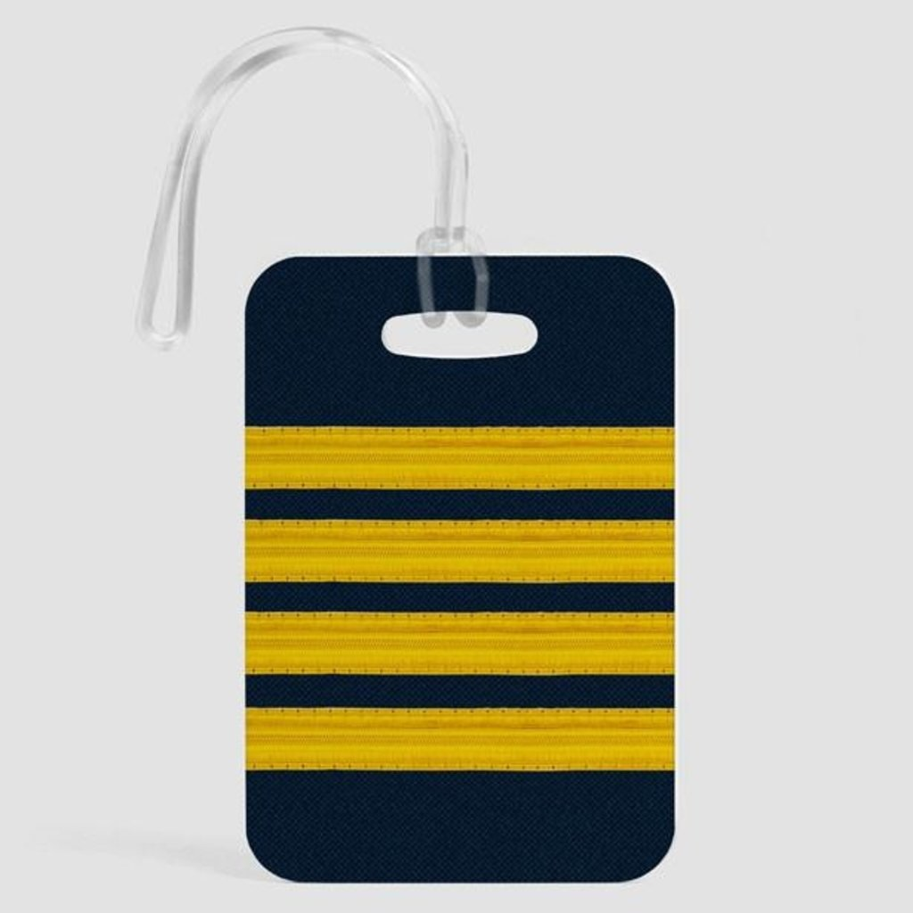 Pilot Stripes Luggage Tag