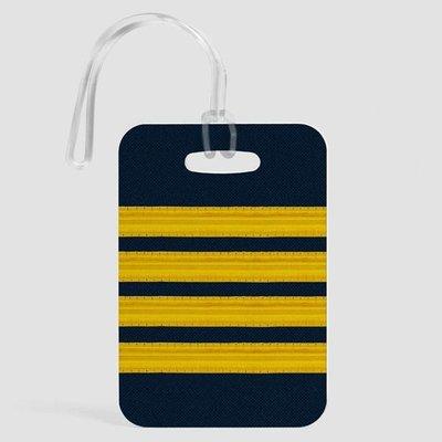 Pilot Stripes Luggage Tag-DNR.