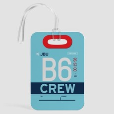 B6 Crew Luggage Tag
