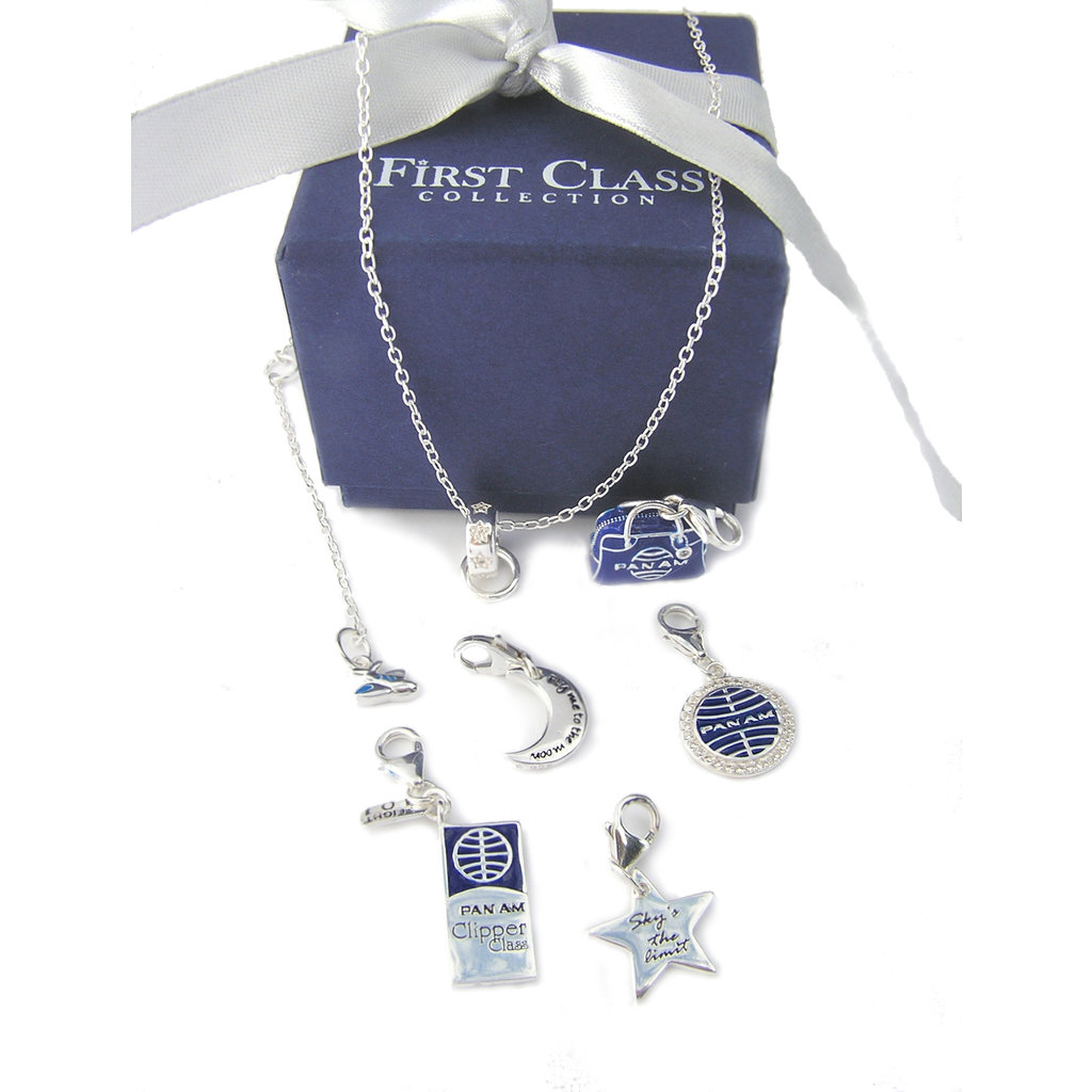 First Class Silver Moon Charm